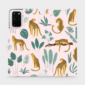 Flip pouzdro Mobiwear na mobil Samsung Galaxy S20 Plus - MP07S Leopardi