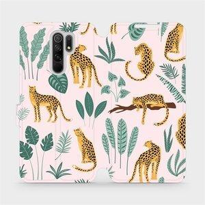 Flip pouzdro Mobiwear na mobil Xiaomi Redmi 9 - MP07S Leopardi