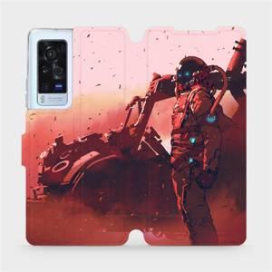 Flip pouzdro Mobiwear na mobil Vivo X60 Pro 5G - MA09S Průzkumník s červeným vozítkem