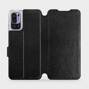 Flip pouzdro Mobiwear na mobil Xiaomi Redmi Note 10 5G v provedení C_BLS Black&Gray s šedým vnitřkem