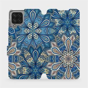 Flip pouzdro Mobiwear na mobil Samsung Galaxy M22 - V108P Modré mandala květy