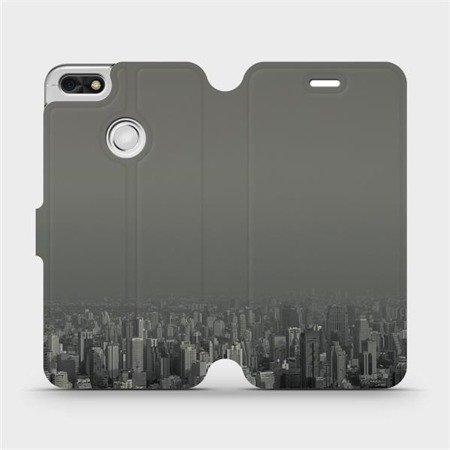 Flipové pouzdro Mobiwear na mobil Huawei P9 Lite mini - V063P Město v šedém hávu