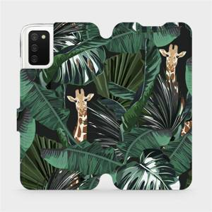Flip pouzdro Mobiwear na mobil Samsung Galaxy A03s - VP06P Žirafky