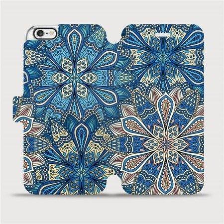 Flipové pouzdro Mobiwear na mobil Apple iPhone 6 / iPhone 6s - V108P Modré mandala květy