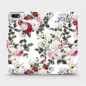 Flipové pouzdro Mobiwear na mobil Huawei P9 Lite mini - MD01S Růže na bílé