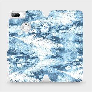 Flipové pouzdro Mobiwear na mobil Honor 9 Lite - M058S Světle modrá horizontální pírka