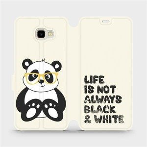 Flipové pouzdro Mobiwear na mobil Samsung Galaxy J4 Plus 2018 - M041S Panda - life is not always black and white