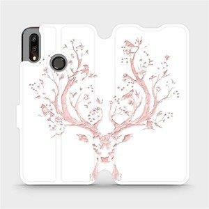 Flipové pouzdro Mobiwear na mobil Huawei P Smart 2019 - M007S Růžový jelínek