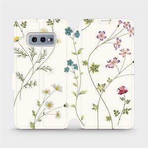 Flipové pouzdro Mobiwear na mobil Samsung Galaxy S10e - MD03S Tenké rostlinky s květy