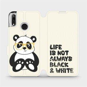 Flipové pouzdro Mobiwear na mobil Huawei Y7 2019 - M041S Panda - life is not always black and white