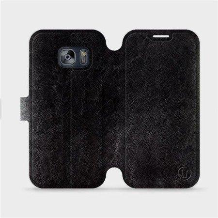 Parádní flip pouzdro Mobiwear na mobil Samsung Galaxy S7 v provedení C_BLS Black&Gray s šedým vnitřkem