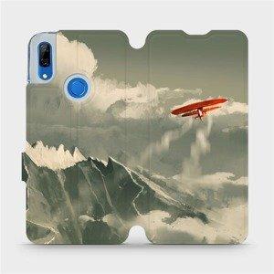 Flipové pouzdro Mobiwear na mobil Huawei P Smart Z - MA03P Oranžové letadlo v horách