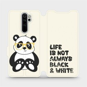 Flipové pouzdro Mobiwear na mobil Xiaomi Redmi Note 8 Pro - M041S Panda - life is not always black and white