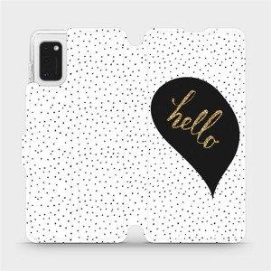Flipové pouzdro Mobiwear na mobil Samsung Galaxy A41 - M013P Golden hello
