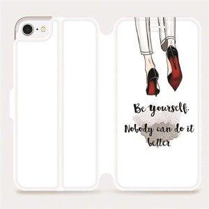 Flipové pouzdro Mobiwear na mobil Apple iPhone SE 2020 - M046P Be yourself