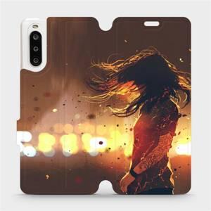 Flipové pouzdro Mobiwear na mobil Sony Xperia 10 II - MA02S Tetovaná dívka