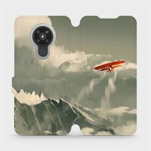 Flipové pouzdro Mobiwear na mobil Nokia 5.3 - MA03P Oranžové letadlo v horách