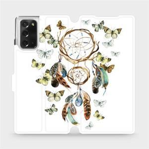 Flipové pouzdro Mobiwear na mobil Samsung Galaxy Note 20 - M001P Lapač a motýlci