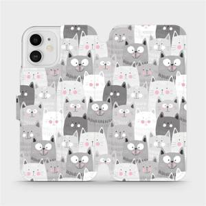 Flipové pouzdro Mobiwear na mobil Apple iPhone 12 - M099P Kočičky