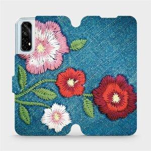 Flipové pouzdro Mobiwear na mobil Realme 7 - MD05P Džínové květy