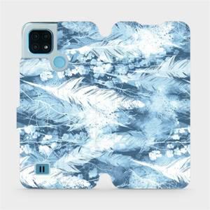 Flip pouzdro Mobiwear na mobil Realme C21 - M058S Světle modrá horizontální pírka