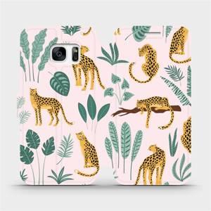 Flip pouzdro Mobiwear na mobil Samsung Galaxy S7 - MP07S Leopardi