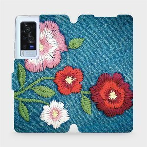 Flip pouzdro Mobiwear na mobil Vivo X60 Pro 5G - MD05P Džínové květy