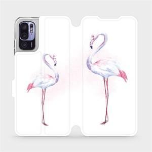 Flip pouzdro Mobiwear na mobil Xiaomi Redmi Note 10 5G - M005S Plameňáci