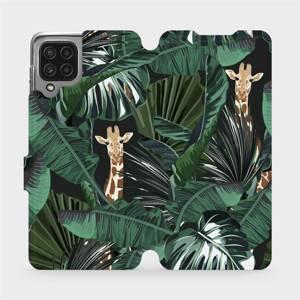 Flip pouzdro Mobiwear na mobil Samsung Galaxy A22 4G - VP06P Žirafky