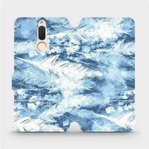 Flipové pouzdro Mobiwear na mobil Huawei Mate 10 Lite - M058S Světle modrá horizontální pírka