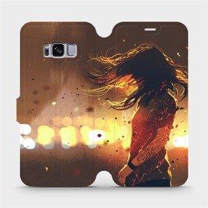 Flipové pouzdro Mobiwear na mobil Samsung Galaxy S8 - MA02S Tetovaná dívka