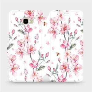 Flipové pouzdro Mobiwear na mobil Samsung Galaxy J4 Plus 2018 - M124S Růžové květy