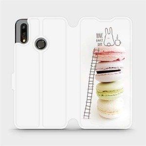 Flipové pouzdro Mobiwear na mobil Huawei P Smart 2019 - M090P Makronky - have a nice day