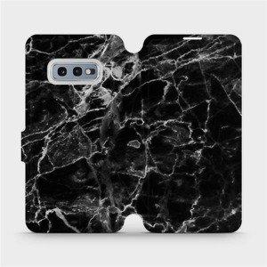 Flipové pouzdro Mobiwear na mobil Samsung Galaxy S10e - V056P Černý mramor