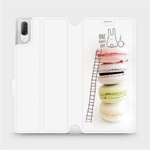 Flipové pouzdro Mobiwear na mobil Sony Xperia L3 - M090P Makronky - have a nice day