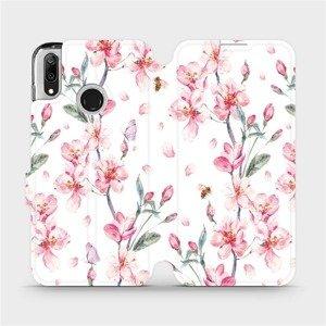 Flipové pouzdro Mobiwear na mobil Huawei Y7 2019 - M124S Růžové květy
