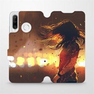 Flipové pouzdro Mobiwear na mobil Huawei P30 Lite - MA02S Tetovaná dívka