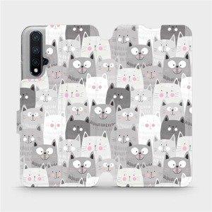 Flipové pouzdro Mobiwear na mobil Honor 20 - M099P Kočičky