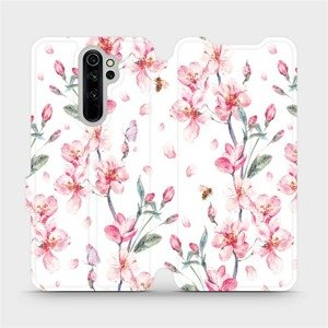 Flipové pouzdro Mobiwear na mobil Xiaomi Redmi Note 8 Pro - M124S Růžové květy