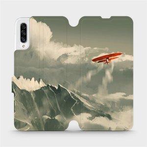 Flipové pouzdro Mobiwear na mobil Samsung Galaxy A30s - MA03P Oranžové letadlo v horách