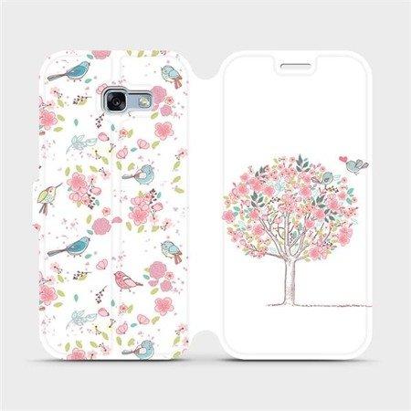 Flipové pouzdro Mobiwear na mobil Samsung Galaxy A3 2017 - M120S Strom a ptáčci