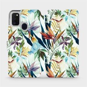 Flipové pouzdro Mobiwear na mobil Samsung Galaxy M21 - M071P Flóra