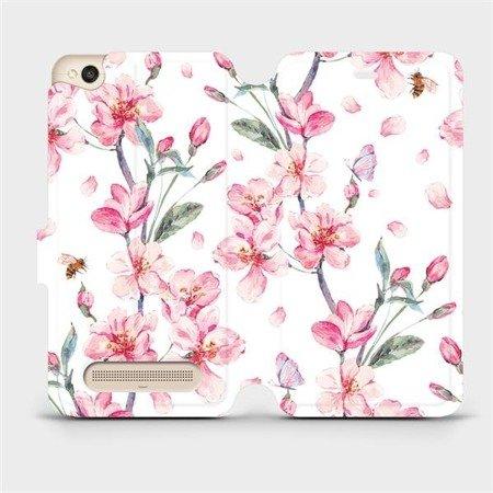 Flipové pouzdro Mobiwear na mobil Xiaomi Redmi 4A - M124S Růžové květy
