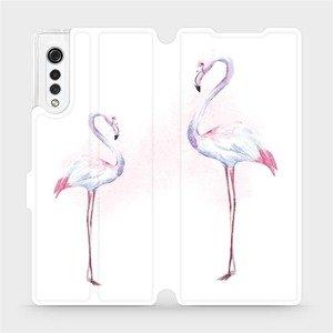 Flipové pouzdro Mobiwear na mobil LG Velvet - M005S Plameňáci