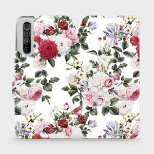 Flipové pouzdro Mobiwear na mobil Realme X3 SuperZoom - MD01S Růže na bílé