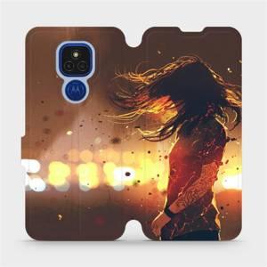 Flipové pouzdro Mobiwear na mobil Motorola Moto E7 Plus - MA02S Tetovaná dívka