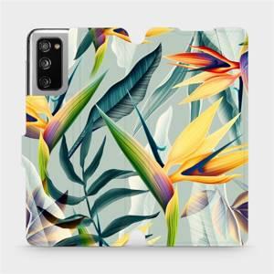 Flipové pouzdro Mobiwear na mobil Samsung Galaxy S20 FE - MC02S Žluté velké květy a zelené listy
