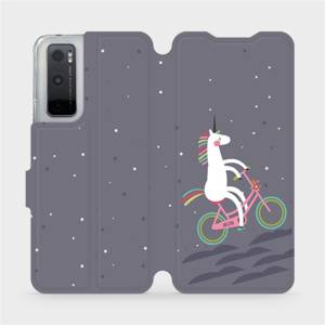 Flipové pouzdro Mobiwear na mobil Vivo Y70 - V024P Jednorožec na kole