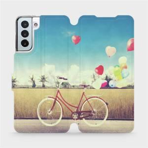 Flipové pouzdro Mobiwear na mobil Samsung Galaxy S21 Plus 5G - M133P Kolo a balónky