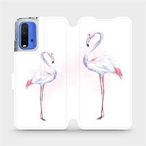 Flipové pouzdro Mobiwear na mobil Xiaomi Redmi 9T - M005S Plameňáci